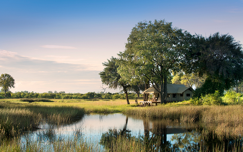 Gaze at the Okavango Delta from the privacy of your own deck