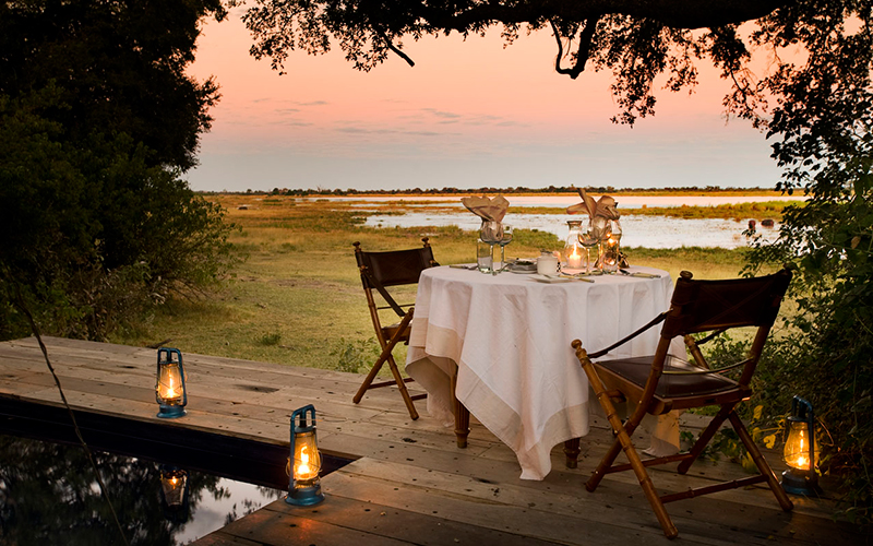 Enjoy a romantic meal like no other under the African skies, with nothing but the sounds of the wilderness to disturb you