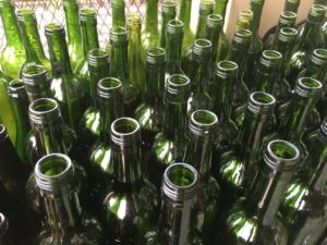 Glass bottles to be recycled